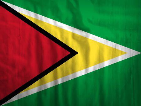 guyanese: Fabric Guyana flag background texture