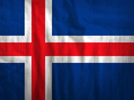iceland flag: Fabric Iceland flag background texture Stock Photo