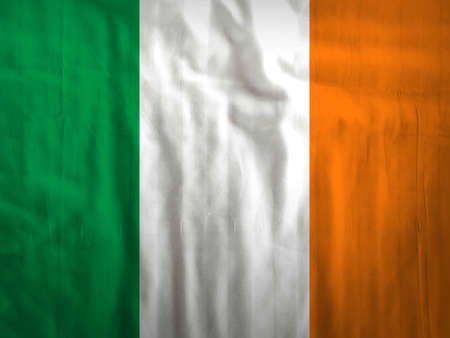 ireland flag: Fabric Ireland flag background texture Stock Photo