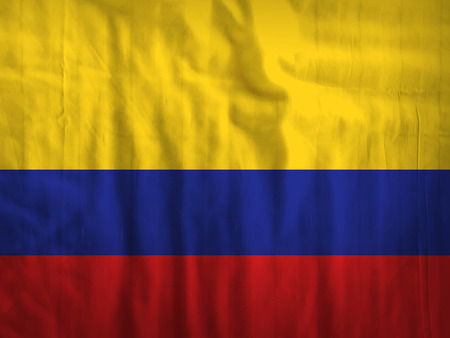 colombia: Fabric Colombia flag background texture