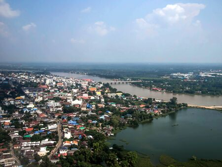 Ariel view of Ubon Ratchathani province in Thailand