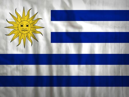 bandera de uruguay: Uruguay flag fabric texture textile background