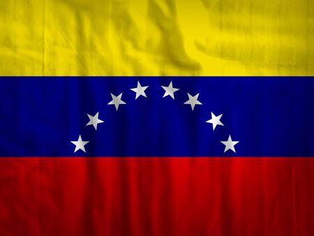 bandera de venezuela: Venezuela tela de la bandera de fondo textura de textiles Foto de archivo