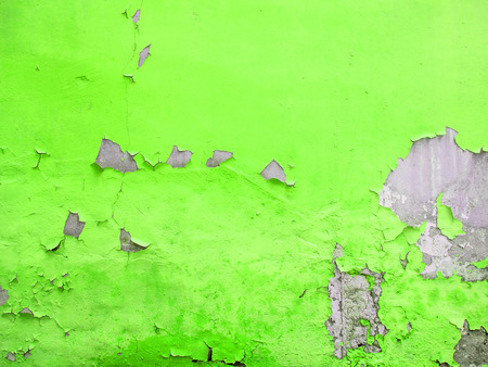 Yellow painted wall with grunge concrete texture behind Stock Photo