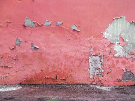 グランジ テクスチャ コンクリート床と黄色塗られた壁 写真素材