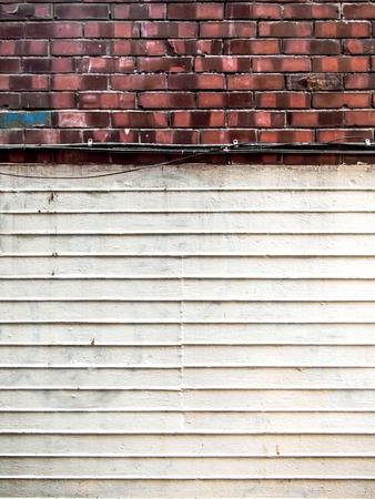 ストライプ石膏の白い壁のテクスチャ背景 写真素材