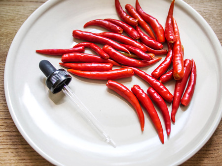 Chilli red and dropper experiment food hot