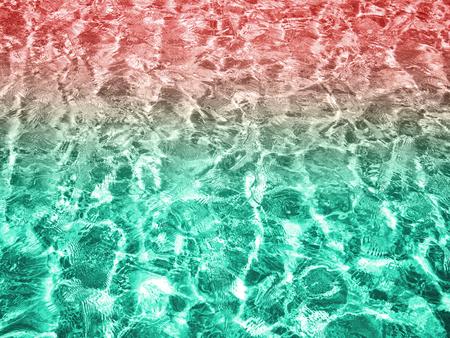 クリアで鮮やか水表面のテクスチャ背景 写真素材