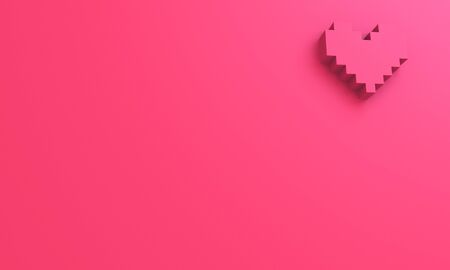 3D pixel heart shape wallpaper background Stock fotó