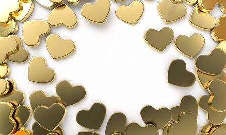 3D render heart chocolate for valentine illustration background