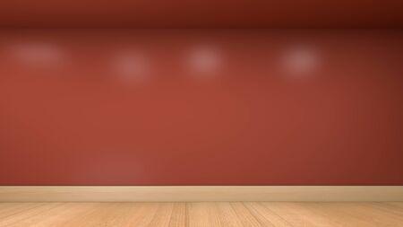 3D illustration render of empty room wall and floor Stock fotó