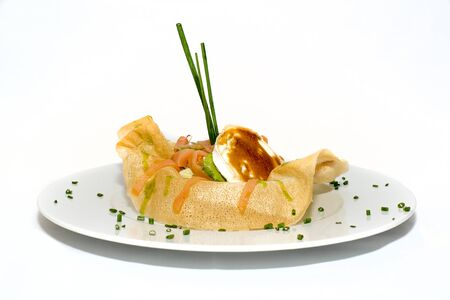 queso de cabra: salmón crujiente de queso de cabra