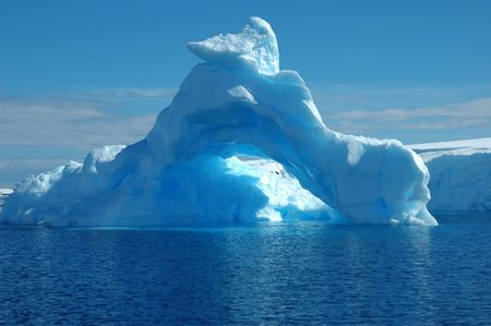 waters: Iceberg in Antarctic waters Stock Photo