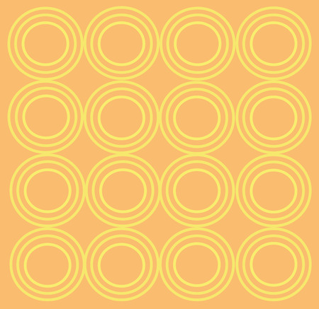 color swatch book: cream background with yellow curcles Illustration