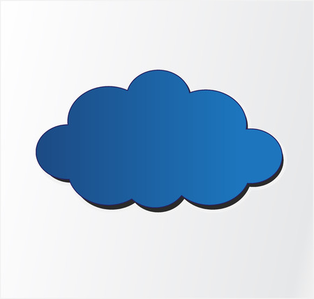 Blue vector cloud