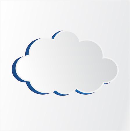 White cloud vector illustration Vettoriali