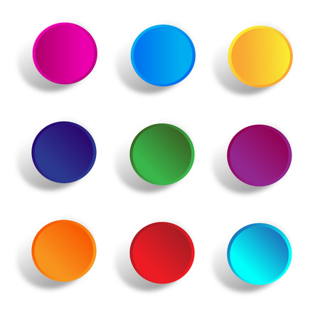 premier: Round buttons  in colors Illustration