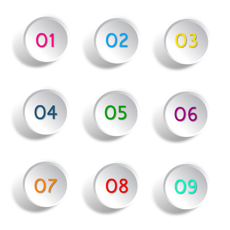 Number round buttons