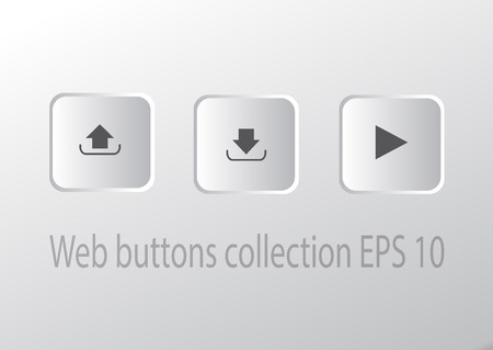 Play download and upload button Vector