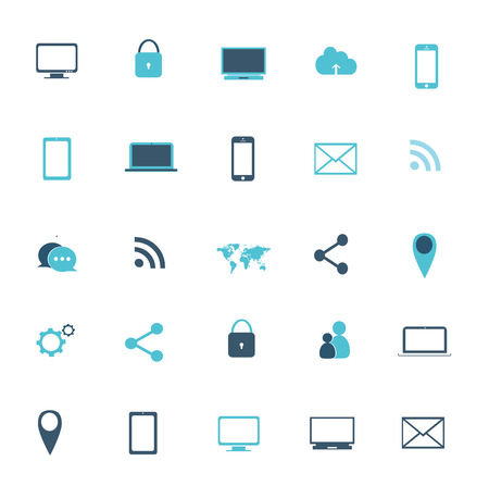 digitized: Icon media set vector illustration  icon media set vector illustration
