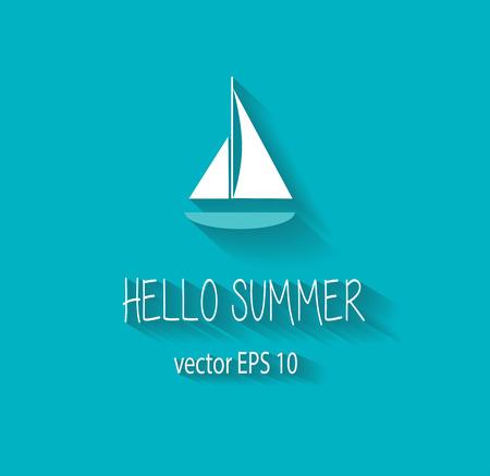 pink cruiser: Summer background icon logo blue