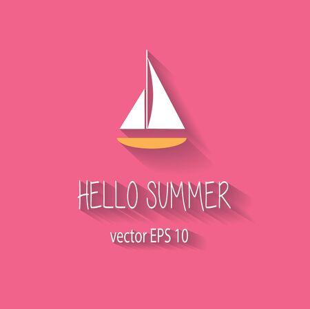 pink cruiser: Summer background logo icon pink