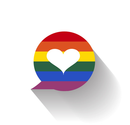 bisexuality: lgbt heart shape icon