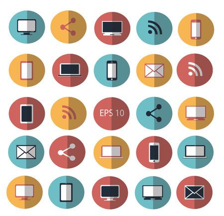 digitized: Digital devices icon set