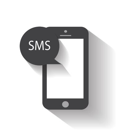 sms: Mobile phone sms icon Illustration