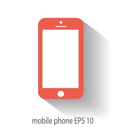 Mobile icon vector illustration Vettoriali