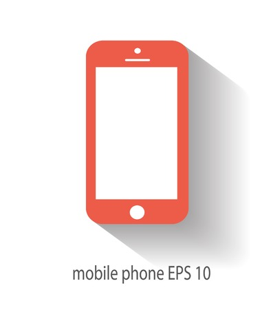 Mobile icon vector illustration Illustration