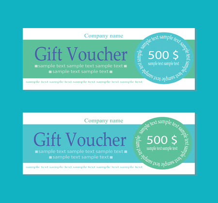 restaurant bill: Vector Gift voucher template with clean and modern pattern. Illustration