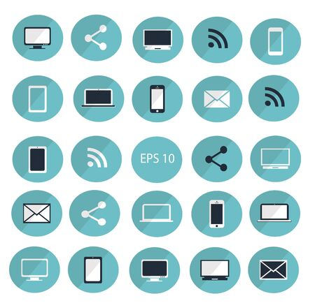 digitized: Digital devices icon set vector illustration  Digital devices icon set Illustration