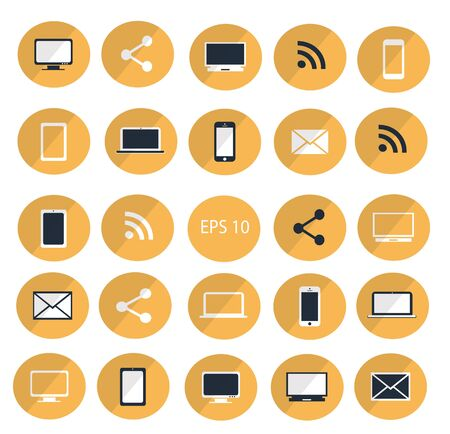digitized: Digital devices icon set vector illustration  Digital devices icon set Vectores