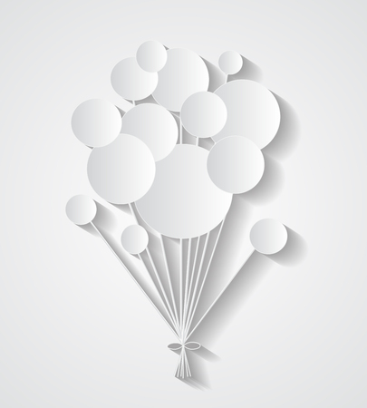 halfone: white communication bubbles on the grey background. Eps 10 vector file.