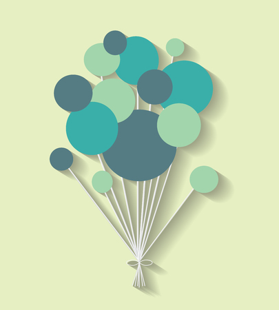 halfone: color communication bubbles on the green background. Eps 10 vector file.