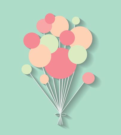 halfone: color communication bubbles on the blue background. Eps 10 vector file. Illustration
