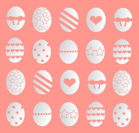 happy easter eggs background Ilustração