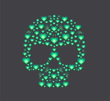 fashion design: skull for fashion design, pattern or background Illustration