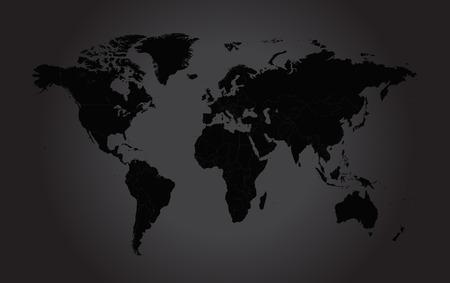 Weltkarte flat black
