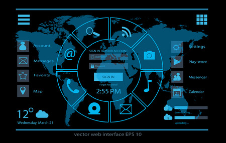 touch screen interface: interface design Illustration
