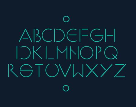 minimalistic: Simple and minimalistic font neon Illustration