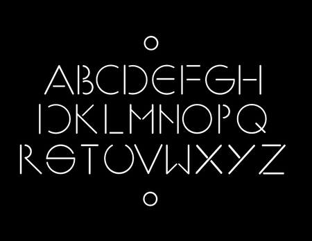 minimalistic: Simple and minimalistic font black