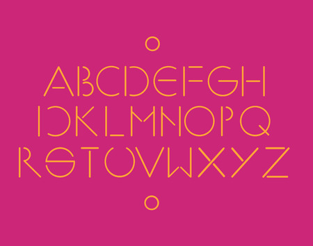 minimalistic: Simple and minimalistic font pink