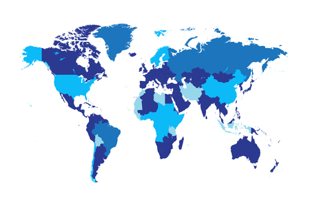 the settlement: world map infographic blue