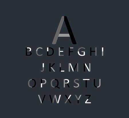 children s book: Black font flat design vector
