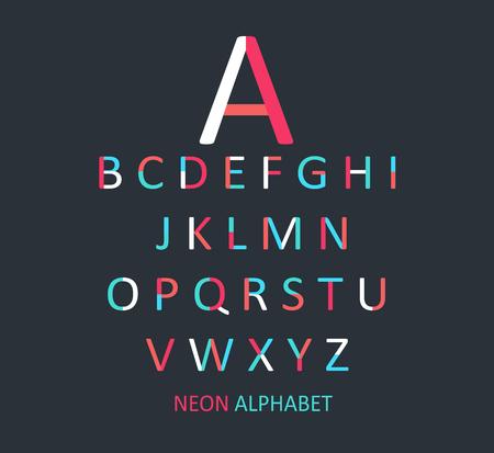 children s book: Colored font flat design vector