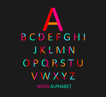 font design: Colored font flat design vector