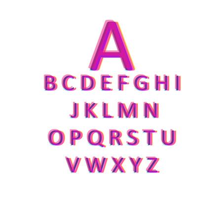children s book: 3d font pink