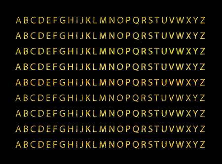 Gold font collection set